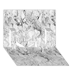 White Marble I Love You 3d Greeting Card (7x5)