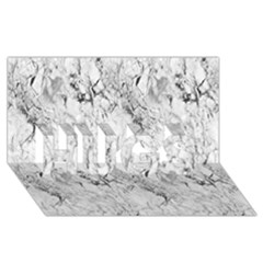 White Marble Hugs 3d Greeting Card (8x4)