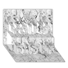 White Marble You Did It 3d Greeting Card (7x5) by ArgosPhotography