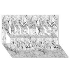 White Marble Merry Xmas 3d Greeting Card (8x4)  by ArgosPhotography