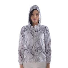 White Marble Hooded Wind Breaker (women)