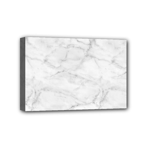 White Marble 2 Mini Canvas 6  X 4  by ArgosPhotography
