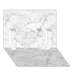 White Marble 2 I Love You 3d Greeting Card (7x5)