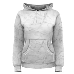 White Marble 2 Women s Pullover Hoodies by ArgosPhotography