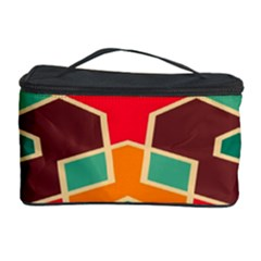 Distorted shapes in retro colors Cosmetic Storage Case by LalyLauraFLM