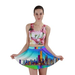 Chicago Colored Foil Effects Mini Skirts