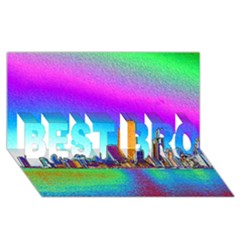 Chicago Colored Foil Effects Best Bro 3d Greeting Card (8x4)