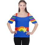 Rainbow Women s Cutout Shoulder Tee