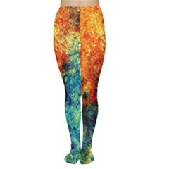 Orange Blue Background Women s Tights by Costasonlineshop