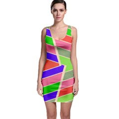 Symmetric Distorted Rectangles Bodycon Dress by LalyLauraFLM