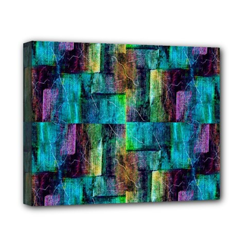 Abstract Square Wall Canvas 10  X 8
