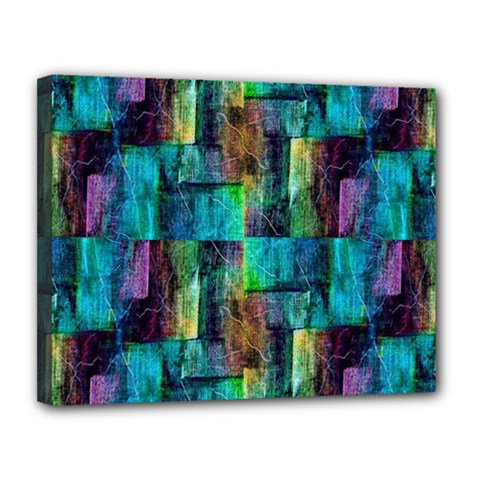Abstract Square Wall Canvas 14  X 11
