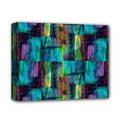 Abstract Square Wall Deluxe Canvas 14  X 11  by Costasonlineshop