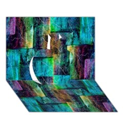 Abstract Square Wall Apple 3d Greeting Card (7x5)  by Costasonlineshop