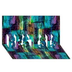 Abstract Square Wall Best Sis 3d Greeting Card (8x4)