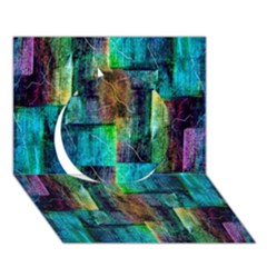 Abstract Square Wall Circle 3d Greeting Card (7x5)  by Costasonlineshop