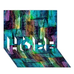 Abstract Square Wall Hope 3d Greeting Card (7x5)  by Costasonlineshop