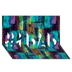 Abstract Square Wall #1 Dad 3d Greeting Card (8x4)