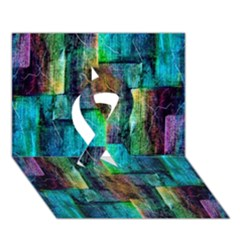 Abstract Square Wall Ribbon 3d Greeting Card (7x5)  by Costasonlineshop