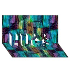 Abstract Square Wall Hugs 3d Greeting Card (8x4)  by Costasonlineshop