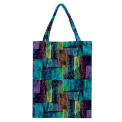 Abstract Square Wall Classic Tote Bags