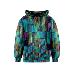 Abstract Square Wall Kids Zipper Hoodies by Costasonlineshop