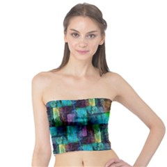 Abstract Square Wall Women s Tube Tops by Costasonlineshop
