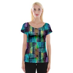 Abstract Square Wall Women s Cap Sleeve Top by Costasonlineshop
