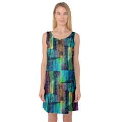 Abstract Square Wall Sleeveless Satin Nightdresses by Costasonlineshop