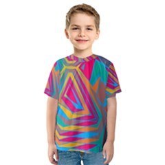 Distorted Shapes Kid s Sport Mesh Tee