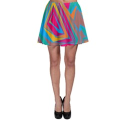 Distorted Shapes Skater Skirt by LalyLauraFLM