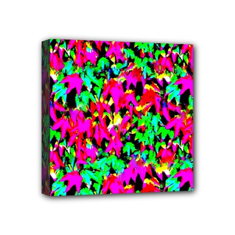 Colorful Leaves Mini Canvas 4  X 4  by Costasonlineshop