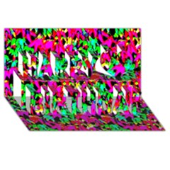 Colorful Leaves Happy Birthday 3d Greeting Card (8x4)  by Costasonlineshop
