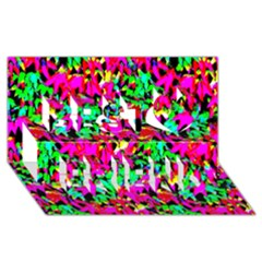 Colorful Leaves Best Friends 3d Greeting Card (8x4)  by Costasonlineshop