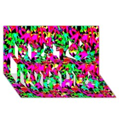 Colorful Leaves Best Wish 3d Greeting Card (8x4)  by Costasonlineshop