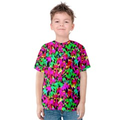 Colorful Leaves Kid s Cotton Tee by Costasonlineshop