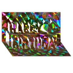 Cool Glitter Pattern Happy Birthday 3d Greeting Card (8x4)  by Costasonlineshop