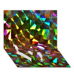 Cool Glitter Pattern Love Bottom 3d Greeting Card (7x5)  by Costasonlineshop