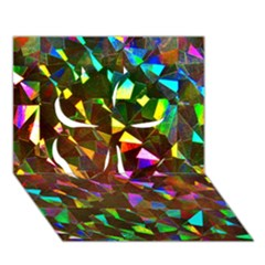 Cool Glitter Pattern Clover 3d Greeting Card (7x5)  by Costasonlineshop