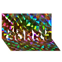 Cool Glitter Pattern Sorry 3d Greeting Card (8x4)  by Costasonlineshop