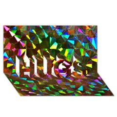 Cool Glitter Pattern Hugs 3d Greeting Card (8x4)