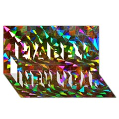 Cool Glitter Pattern Happy New Year 3d Greeting Card (8x4)  by Costasonlineshop