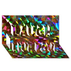 Cool Glitter Pattern Laugh Live Love 3d Greeting Card (8x4)  by Costasonlineshop