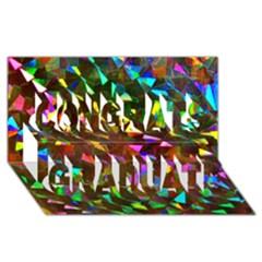 Cool Glitter Pattern Congrats Graduate 3d Greeting Card (8x4)  by Costasonlineshop