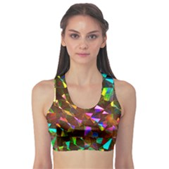 Cool Glitter Pattern Sports Bra