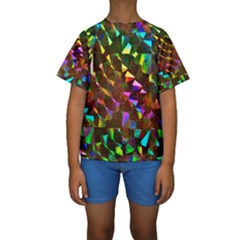 Cool Glitter Pattern Kid s Short Sleeve Swimwear
