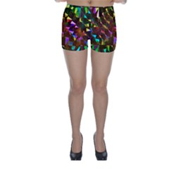 Cool Glitter Pattern Skinny Shorts by Costasonlineshop