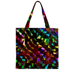 Cool Glitter Pattern Zipper Grocery Tote Bags by Costasonlineshop