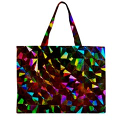 Cool Glitter Pattern Zipper Tiny Tote Bags by Costasonlineshop