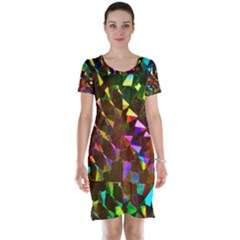 Cool Glitter Pattern Short Sleeve Nightdresses